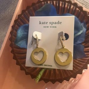 KATE SPADE/ Nordstrom's/ earrings: cut out hearts